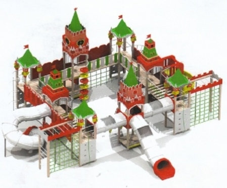 В центре Йошкар-Олы появился игрушечный «Кремль»