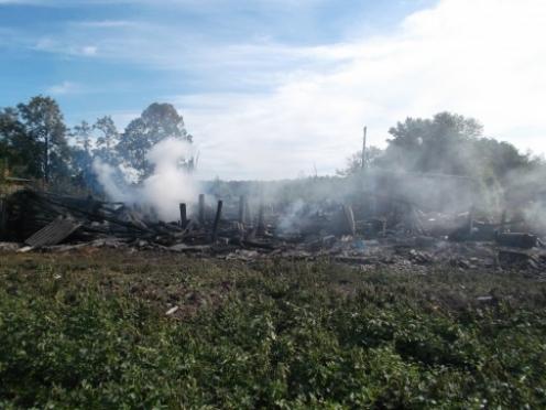 В Мари-Турекском районе огнем уничтожено фермерское хозяйство