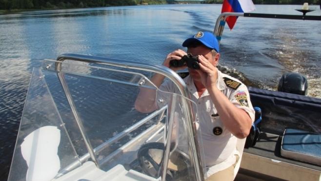 Сотрудники ГИМС провели патрулирование на акватории Волги в районе Кокшайска