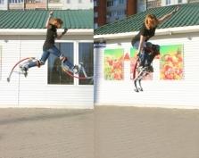 Отличная прыгучесть принесла победу участнице конкурса «Тело — в дело!»