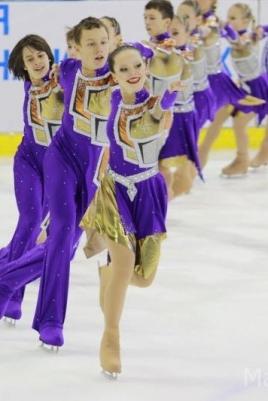 Чемпионат и первенство России по синхронному катанию на коньках постер