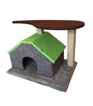 Домик-когтеточка для кошек