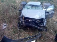 В Горномарийском районе иномарка перевернулась в кювет, водитель — в реанимации