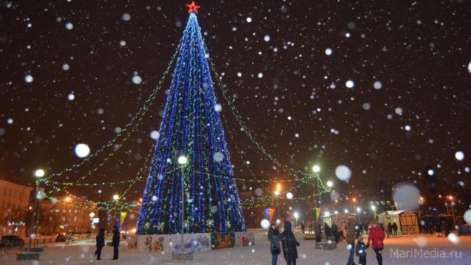 «Новогодний калейдоскоп» на площади Ленина