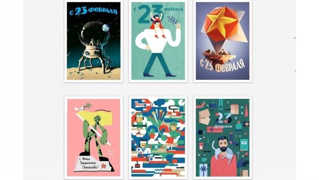 Почта России выпустила уникальные дизайнерские открытки к 23 февраля и 8 марта