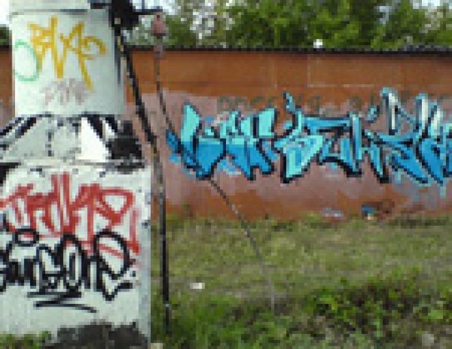 В столице Марий Эл милиция взялась за авторов граффити