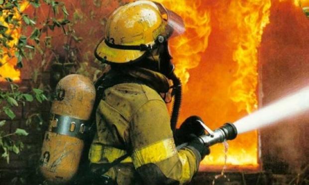 В Медведевском районе произошёл крупный пожар