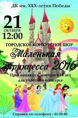 Маленькая Принцесса – 2016 постер