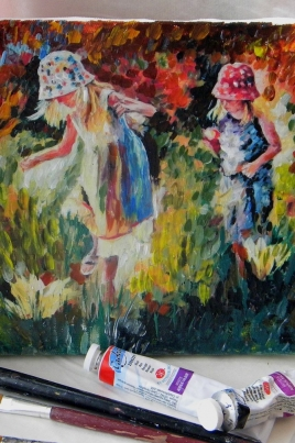 Декупаж: имитация живописи постер