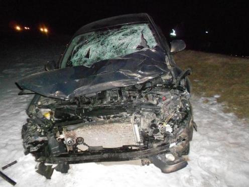 Водитель иномарки, сбивший троих пешеходов, скрылся с места ДТП