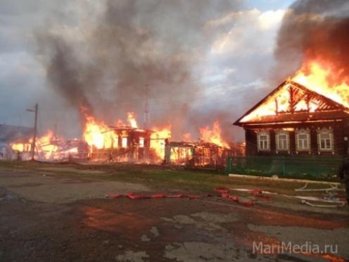 Подробности пожара в поселке Килемары