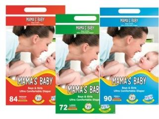 Mama's baby подгузники S (3-6 кг), 5 шт - 40руб. Mama's baby подгузники M (5-10 кг), 5 шт - 45руб.