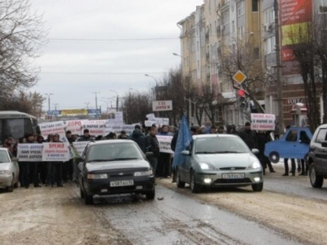 Данные о количестве участников акции «Где дороги?» в Йошкар-Оле разнятся
