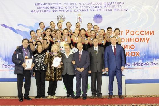 «Золото» Чемпионата России по синхронному катанию на коньках отправилось в Санкт-Петербург
