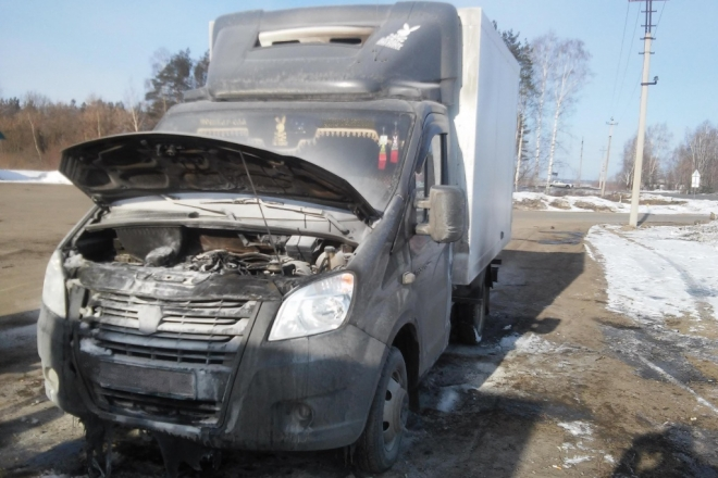На трассе Йошкар-Ола-Зеленодольск вспыхнула Газель Next