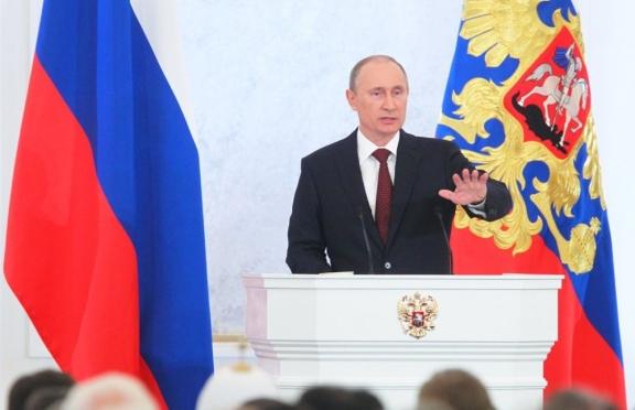 Владимир Путин обращается с ежегодным посланием Федеральному собранию