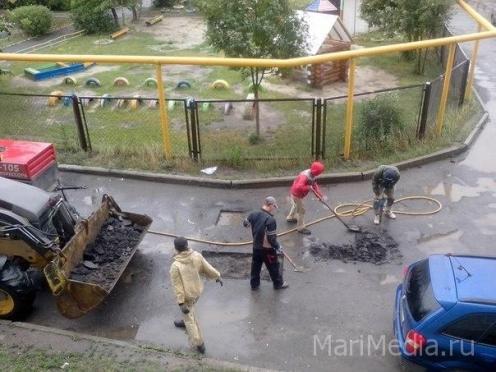 Известен график уборки дворов в марийской столице
