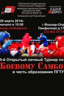 Турнир по Боевому Самбо постер