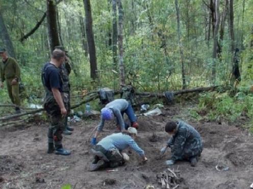 Поисковый отряд «Воскресение» продолжает Вахту Памяти в Ленинградской области