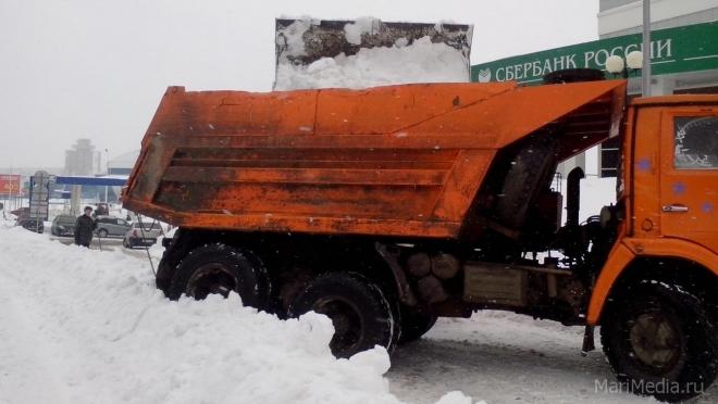 В Йошкар-Оле снежная свалка будет работать и ночами