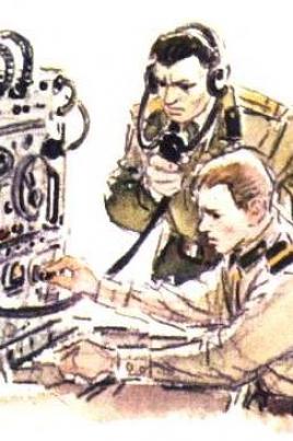 Военный радист постер