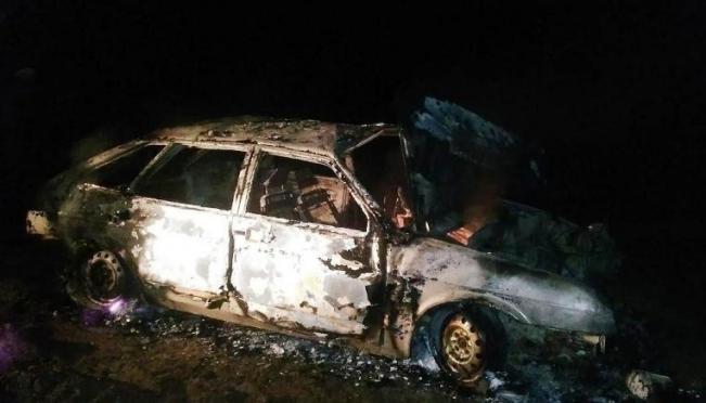 В Моркинском районе автомашина «ВАЗ-2109» сгорела, перевернувшись в кювет