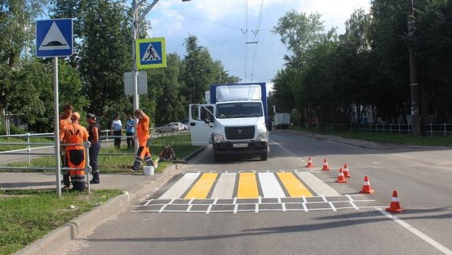 В Йошкар-Оле началась модернизация нерегулируемых пешеходных переходов