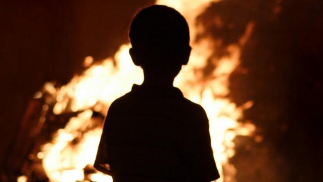 В пожаре в посёлке Морки сгорели дети