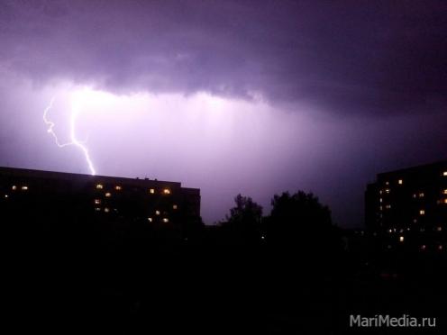 Синоптики Марий Эл прогнозируют ливни, грозы, град, усиление ветра