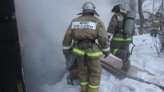 В посёлке Красногорский сгорела конюшня