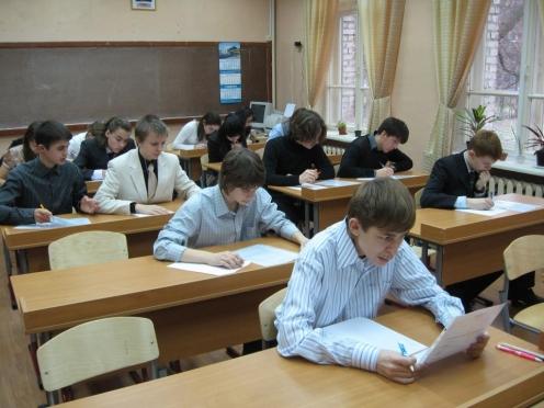 Девятиклассников знакомят с расписанием экзаменов