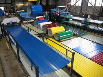 Собственное производство металлочерепицы, профнастила, металлосайдинга, фальцевых панелей и прочее.