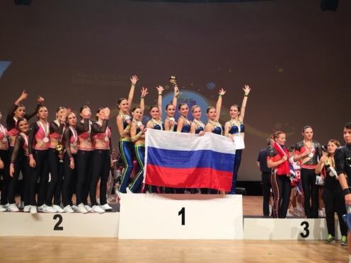 Спортсменки из команды «Экстрим» завоевали золото на Чемпионате Европы по фитнес-аэробике