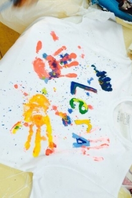 Роспись футболки для папы