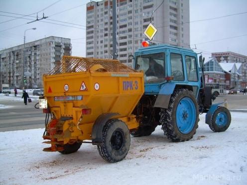 В Йошкар-Оле с начала зимы израсходовано 80 % противогололедных материалов