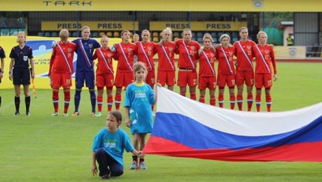 Ольга Петрова внесла свой вклад в победу национальной сборной по футболу