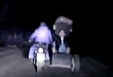 Ночная погоня закончилась задержанием пьяного мотоциклиста