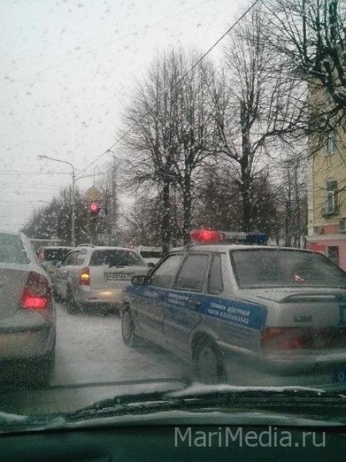 В Йошкар-Оле из-за непогоды растёт число автостолкновений