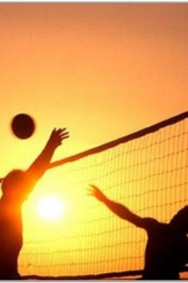Турнир по пляжному волейболу постер