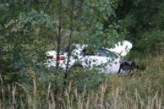 В Марий Эл водитель сбил предупреждающий знак и вылетел в кювет