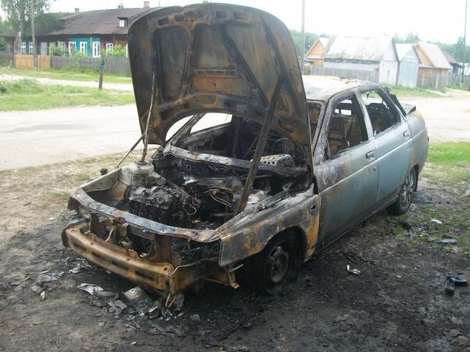 В поселке Мочалище сгорел «ВАЗ-2110»