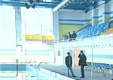 Менее часа осталось до торжественной церемонии открытия в Йошкар-Оле Дворца водных видов спорта