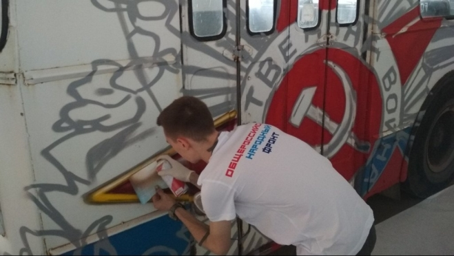 По Йошкар-Оле будет ездить «военно-патриотический» троллейбус