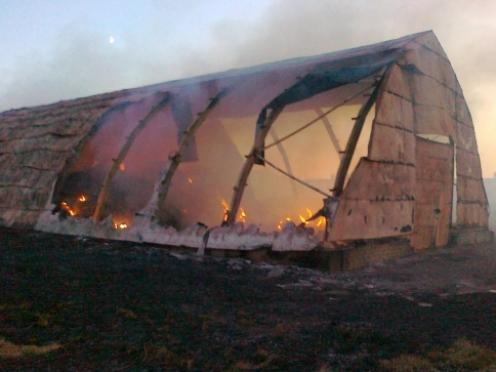 В Марий Эл сгорело 20 тонн сена