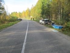 Пьяный водитель на «пятнадцатой» на загородной трассе протаранил Toyota Corolla