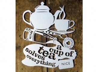 * a cup of tea solves everything - чашка чая решает все; * nice - хороший.