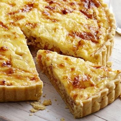Французский пирог киш с курицей и яблочный штрудель