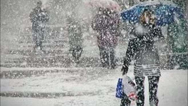 Синоптики прогнозируют снег, мокрый снег и метель
