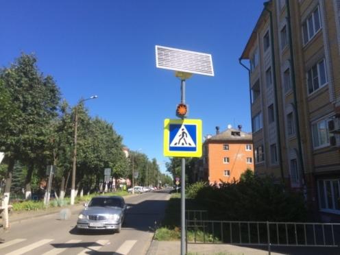В Йошкар-Оле появился первый светофор на солнечных батареях