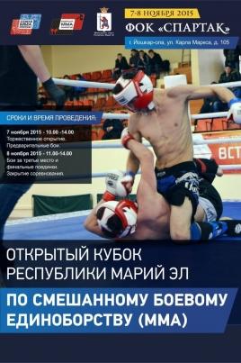 Открытый Кубок Марий Эл по смешанному боевому единоборству (MMA) постер